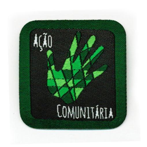 insígnias de envolvimento na comunidade - Escoteiro_insígnia_acao_comunitaria