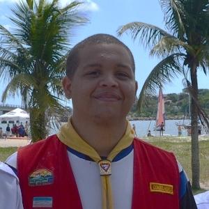 Gabriel Henrique, desbravador conselheiro que visitou o nosso grupo