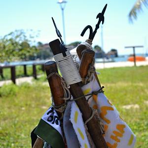 Bandeiras e mastros do Ilha