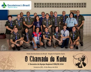 Foto oficial do 1º Encontro da UEB/ES - O chamado do Kudu