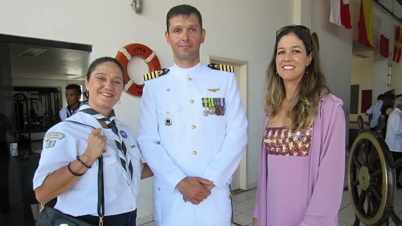 Eliana Rigo, CMG Luis Fragozo e esposa