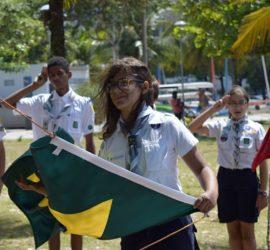Sofia e a Bandeira em destaque